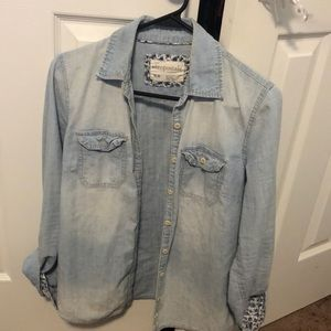 Aeropostale Denim Button up!